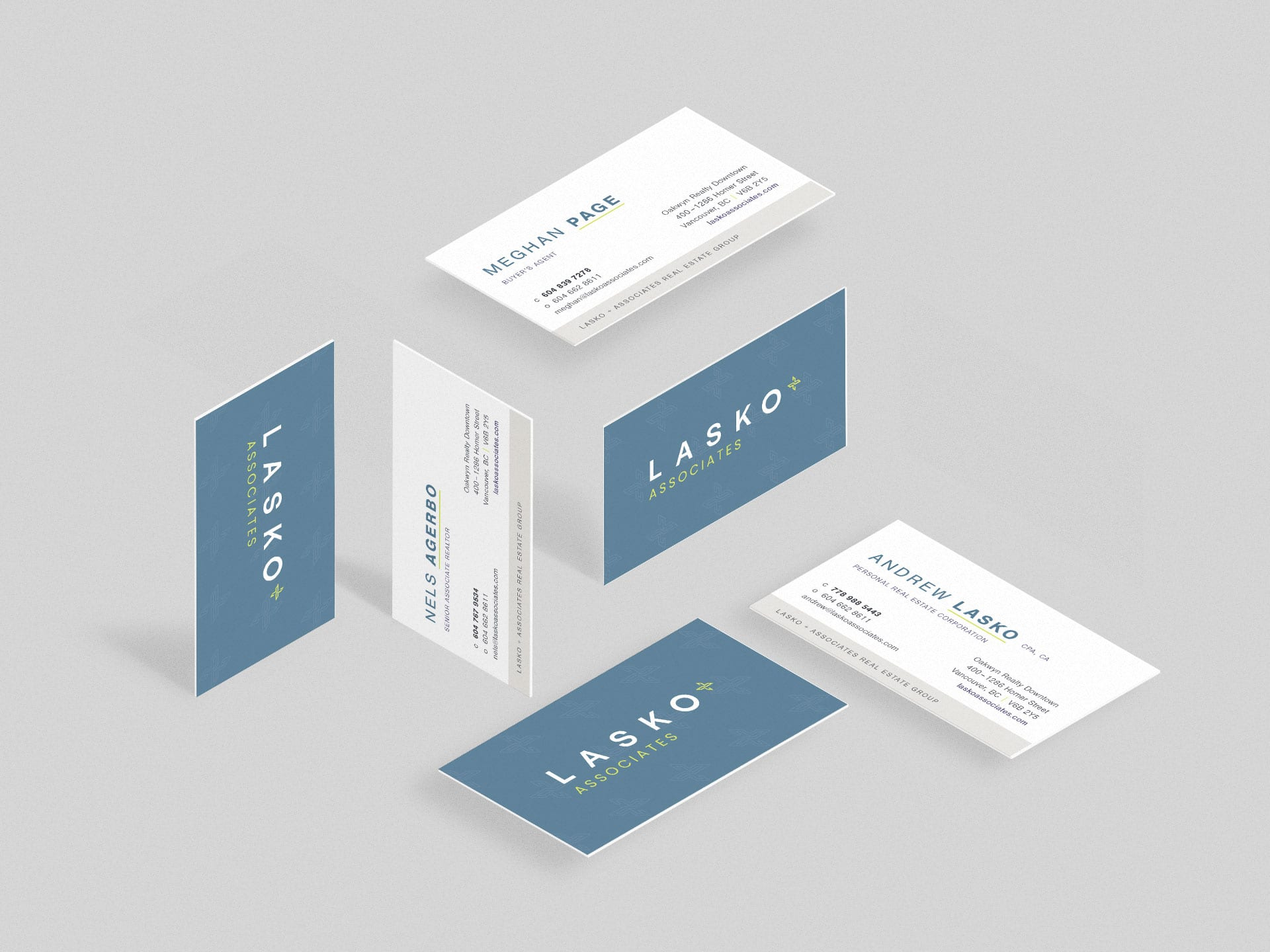 Y5 Creative Case Studies 2019 Business Cards Lasko And Associates Real Estate Group