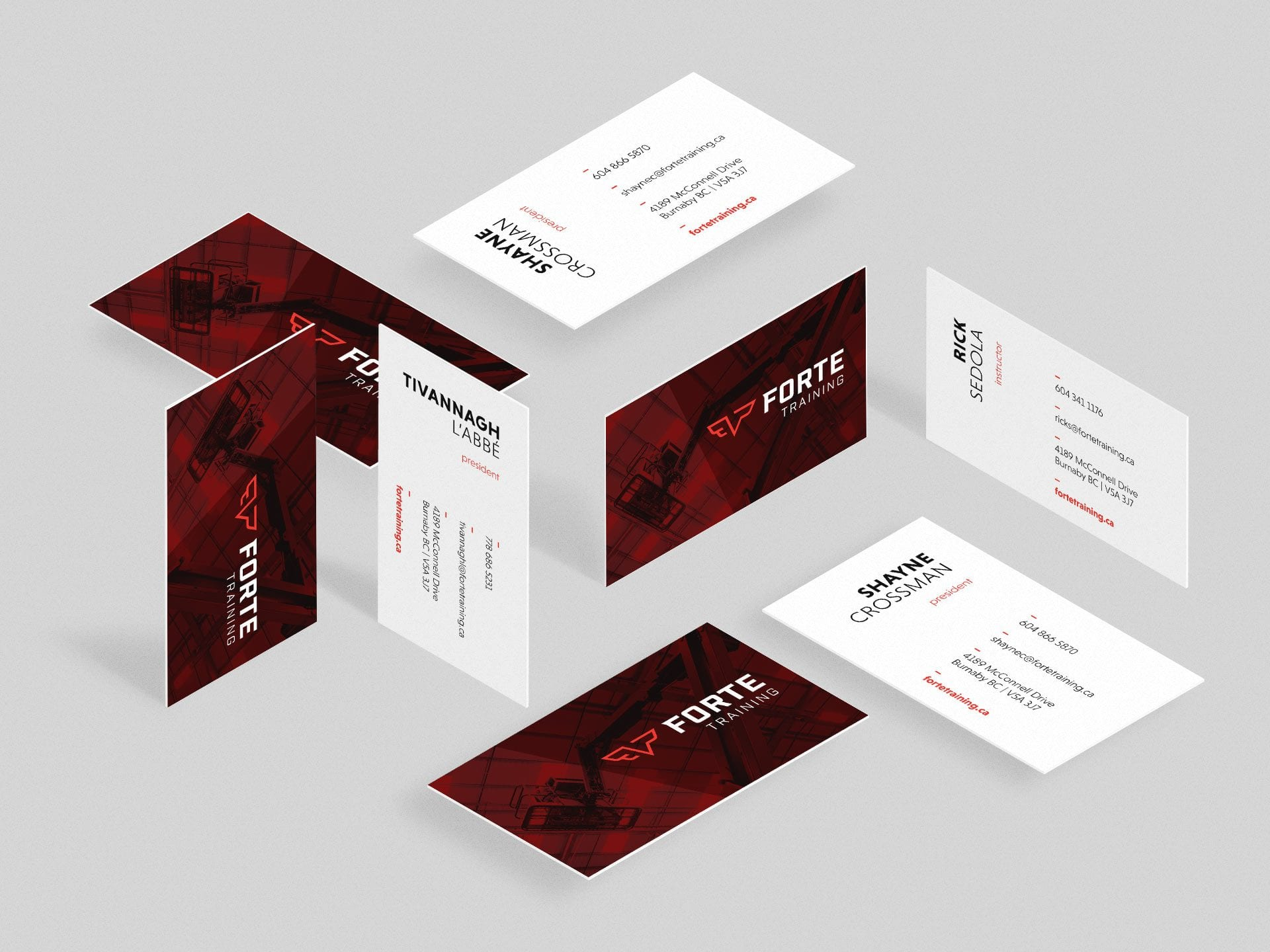Y5 Creative Case Studies Forte Training 2019 Business Cards