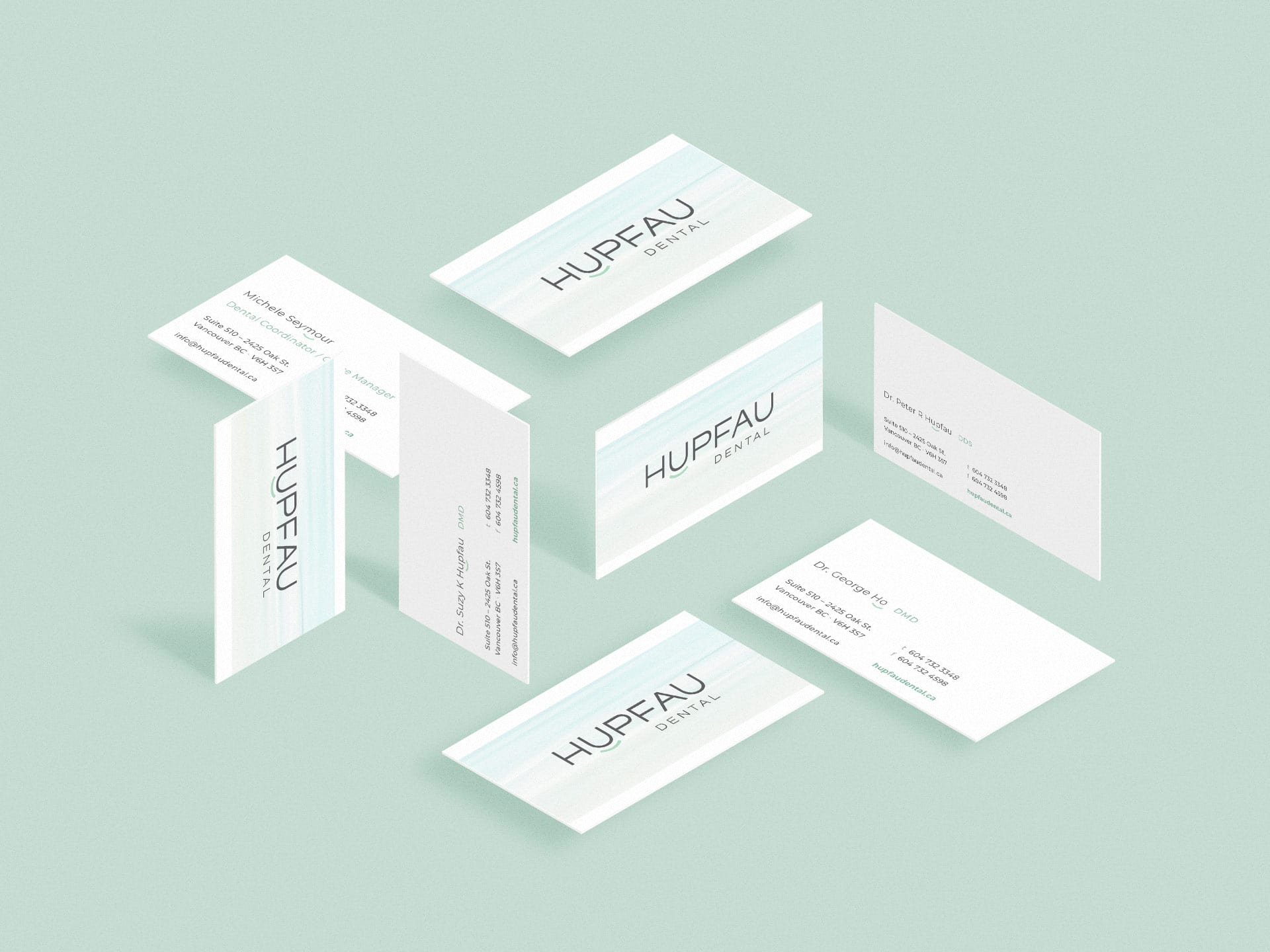 Y5 Creative Case Studies Hupfau Dental BusinessCards